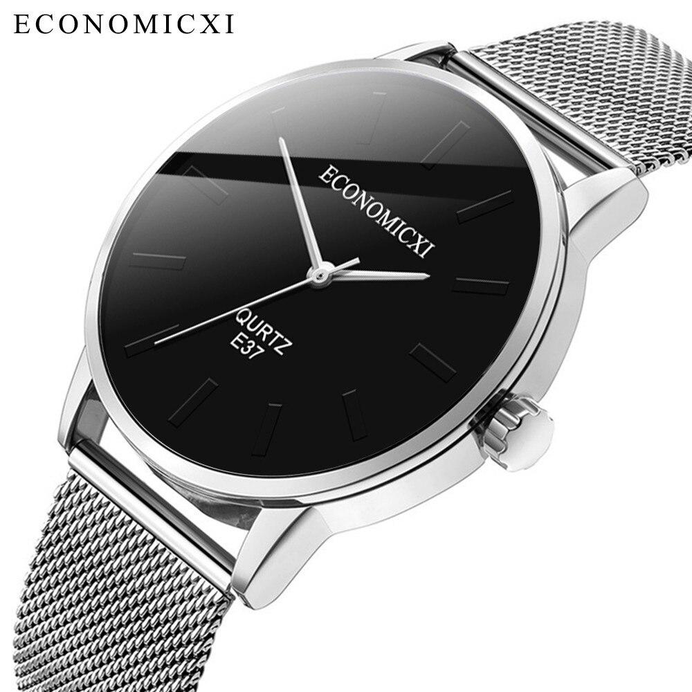 Men's Versatile Mesh Strap Quartz Watch Fashion Business Watch Simple Stainless Steel Mesh Strap Quartz Watch чясы мужские 40* умные часы huawei watch steel mesh mesh серебряная сталь 42mm