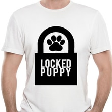 Camisetas BDSM para cachorros bloqueadas para hombres, camisetas Dominant Slave Play sumisión Master Sexy Sub 100% T-Shirt-5383A de verano de manga corta