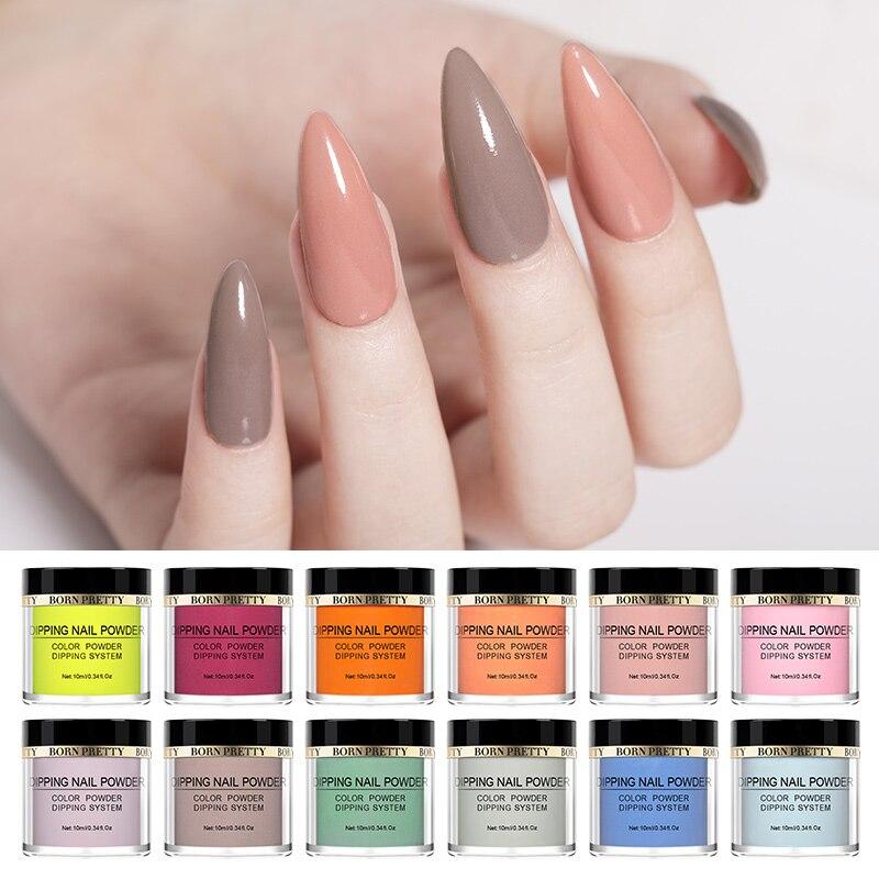 BORN PRETTY-polvo para uñas, polvo con inmersión, secado Natural, de colores de larga duración, potente, accesorio para uñas sin lámpara UV, 10 ml