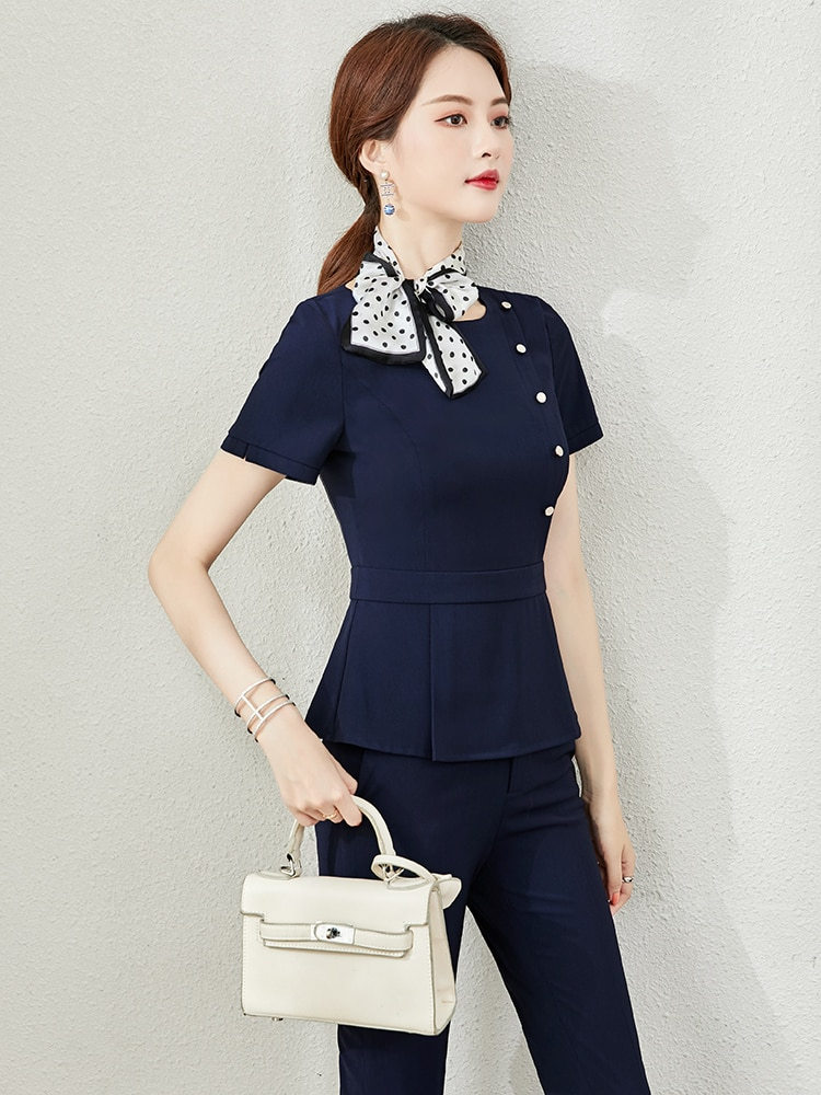High-end professional suit summer dress interview formal fashion smock beauty salon managers