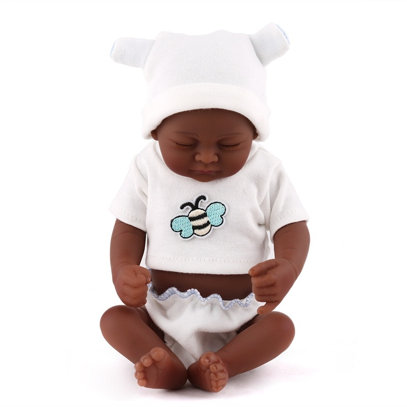 Full Body Silicone Reborn Baby Dolls Boy Black Reborn Toddler Lifelike Newborn Baby Dolls Cheap Reborn Toddlers As Children Gift