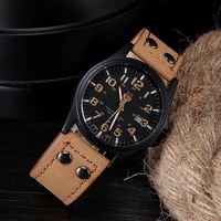 new pu leather men%e2%80%98s watch fashionable male multi function quartz wristwatch for man calendar digital sports watch 2020 smki1127