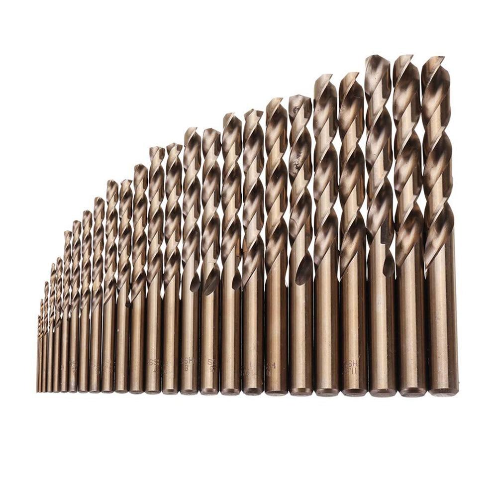 25pcs 1-13mm High Hardness Drill Bit Set Hss M35 Cobalt Twist Drills For Metal Wood Drilling Woodworking Hole Punching Hand Tool