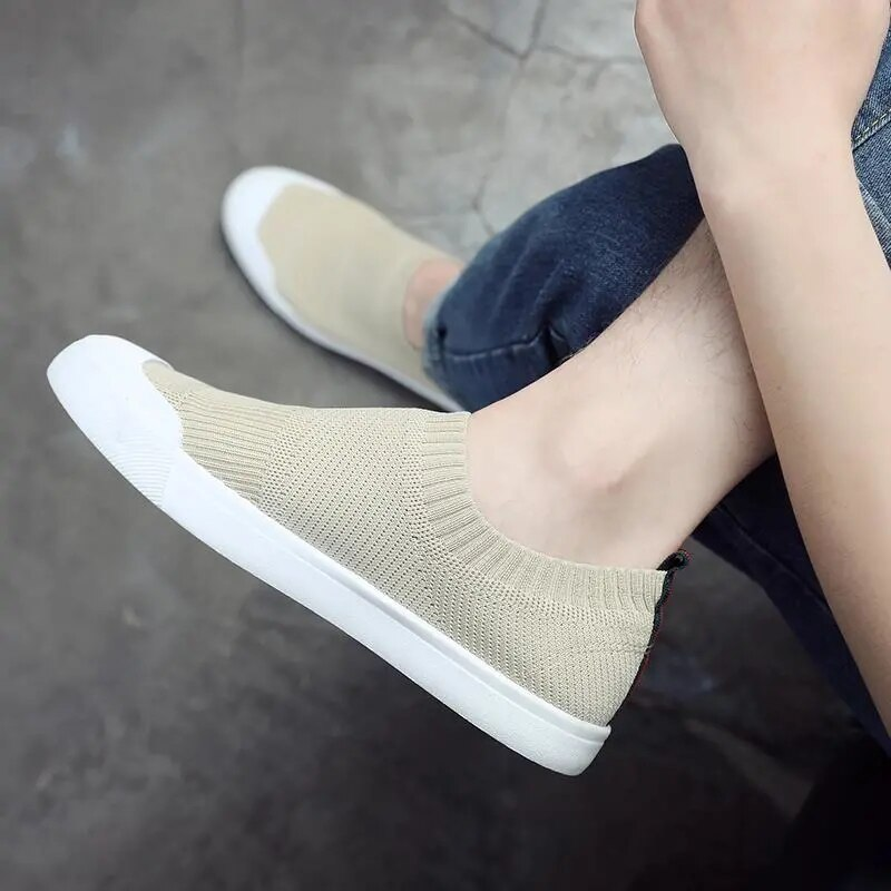 2021 fashion style unisex breathable summer shoes girls school knitting sneakers women trainers