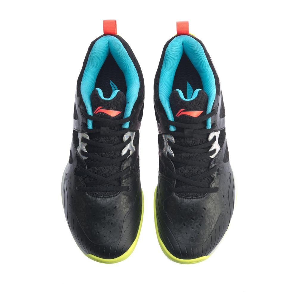 (Перерыв код) Li-Ning Для мужчин бадминтон тренировочные кроссовки из дышащего материала светильник-Вес подкладка стабильный Поддержка Спортивная обувь Кроссовки AYTQ003-4