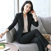 womens suits spring and autumn new fashion temperament high end professional wear wild trousers womens two piece suit