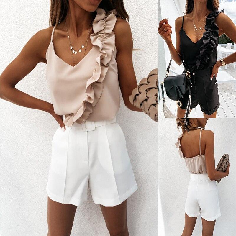Casua Polka Flare Long Sleeve Blouse Women Shirts Fashion Dots Sexy Perspective V-Neck Btutton Self-Bowknot Hem Top AT0005 v placket curved dip hem blouse