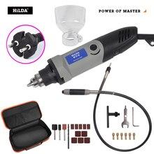 HILDA 400W Mini perceuse électrique meuleuse vitesse Variable Dremel style outil rotatif Mini perceuse avec arbre Flexible et accessoires