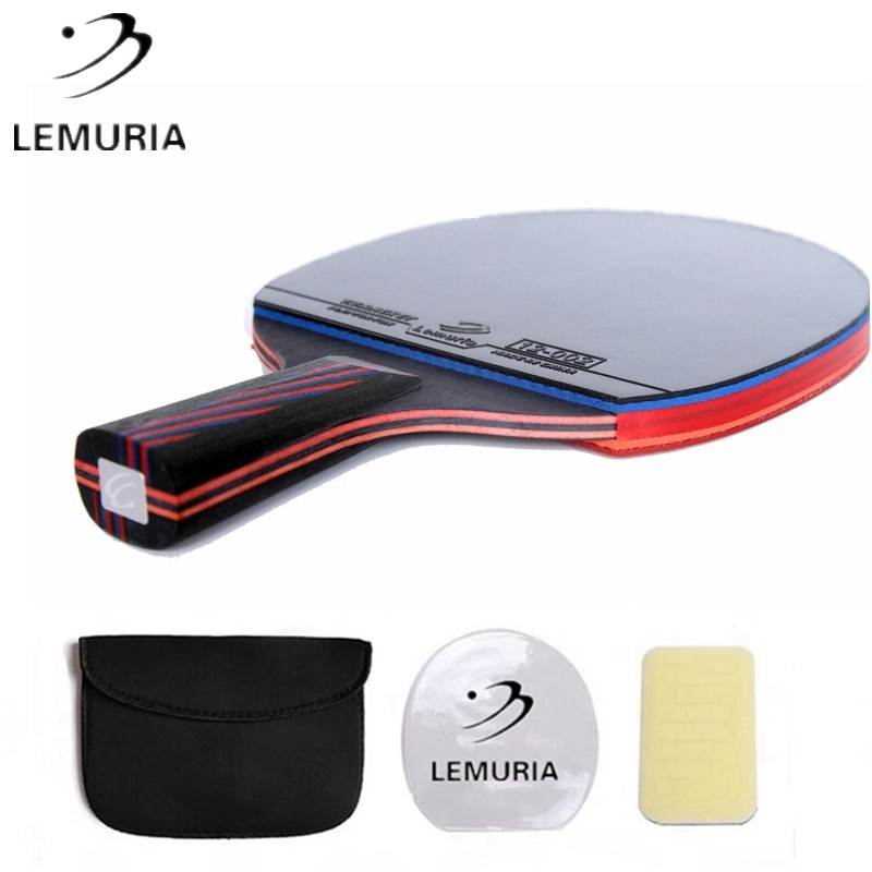 Lemuria Professional Carbon Fiber Table Tennis Racket Double Face Pimples-in Rubber 2.15MM Sponge FL