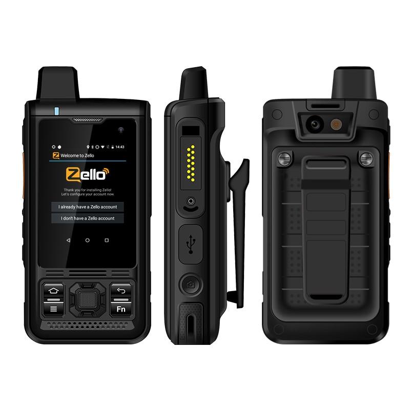 UNIWA B8000 IP68 Waterproof POC Walkie Talkie 2.4'' Touch Screen Android 8.1 Quad Core 8GM ROM 4000mAh NFC Loud Speaker 4G LTE