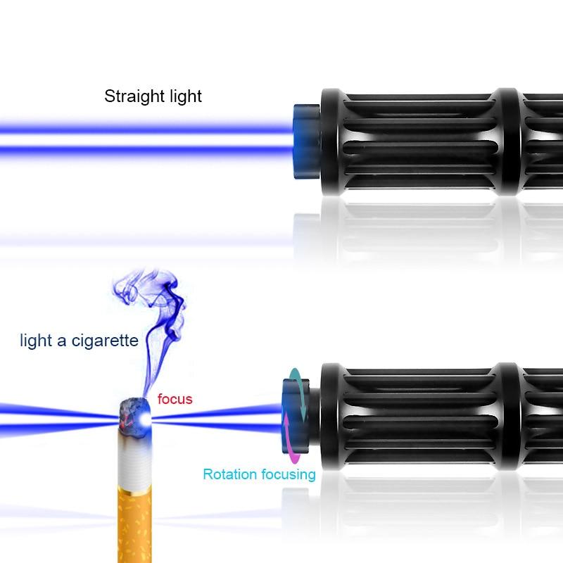 CWLASER Real Power 1500mW-5000mW Military Gatling Shape 450nm Blue Burning Laser Pointer With Case Set (3 Colors) enlarge