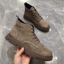 2019 hiver hommes bottes courtes britannique rétro Martin bottes hommes marée version coréenne de la sauvage chaussures de marche haut ZM-88