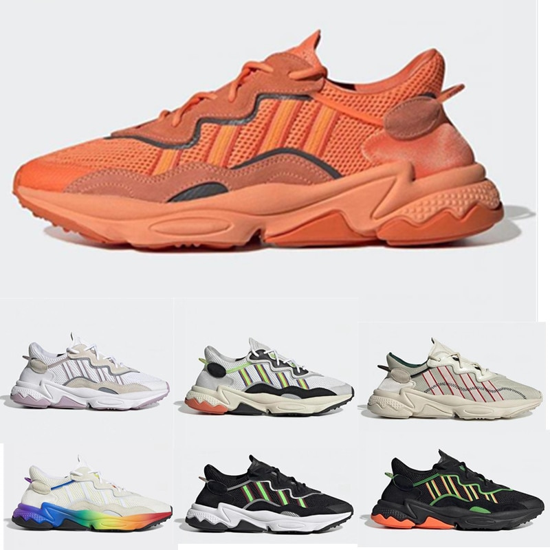 Gran oferta, los más nuevos zapatos para correr para hombre, zapatillas deportivas para exteriores Neon Green Cloud White Bold Orange Pride vino Red