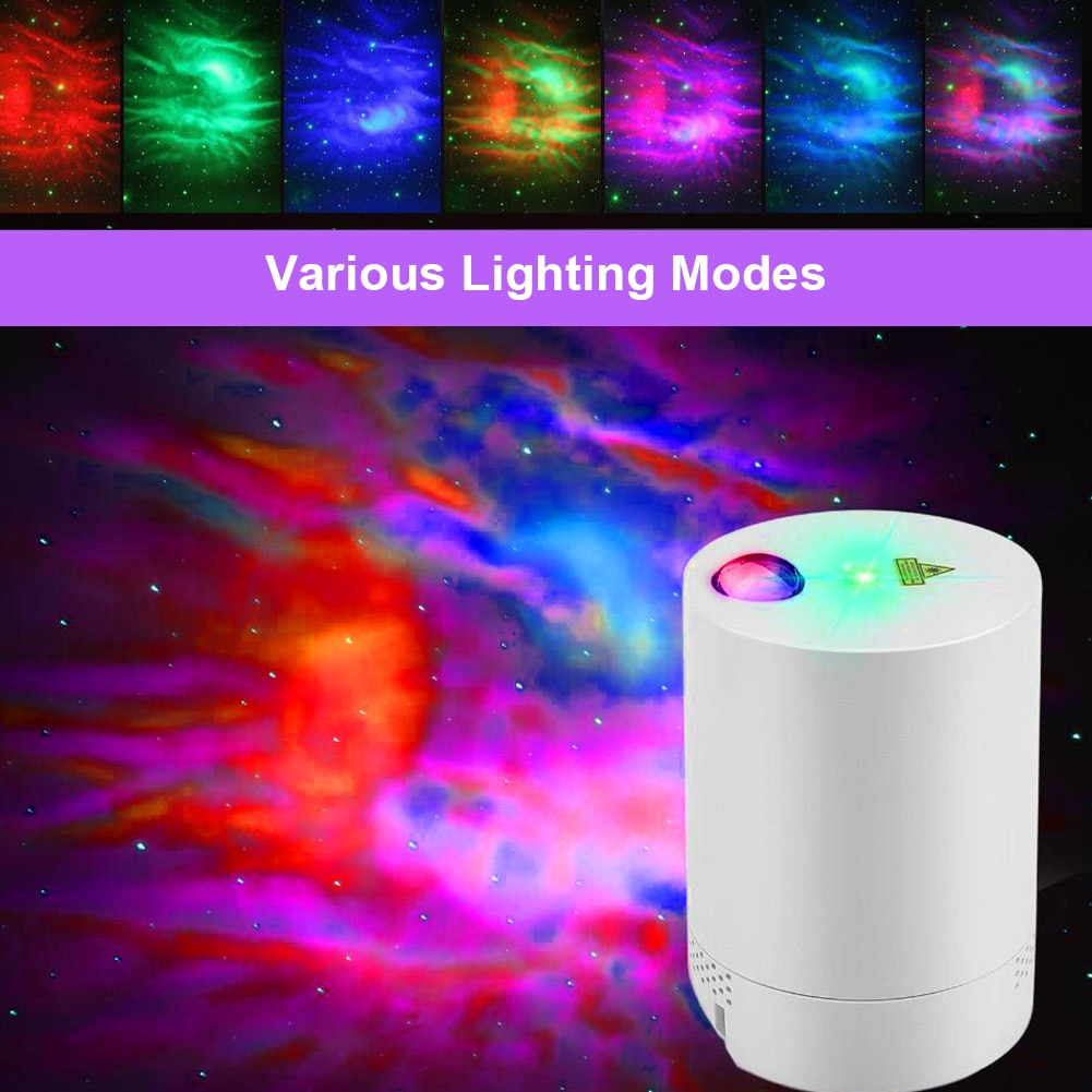 LED Star Projector Night Light Rotating Projector USB Remote Control Fantasy Starry Sky Lamp Bedroom Decoration Atmospher led star sky starry lamp auto rotating projector night light with usb port bedroomlight star projector rotating night lamp