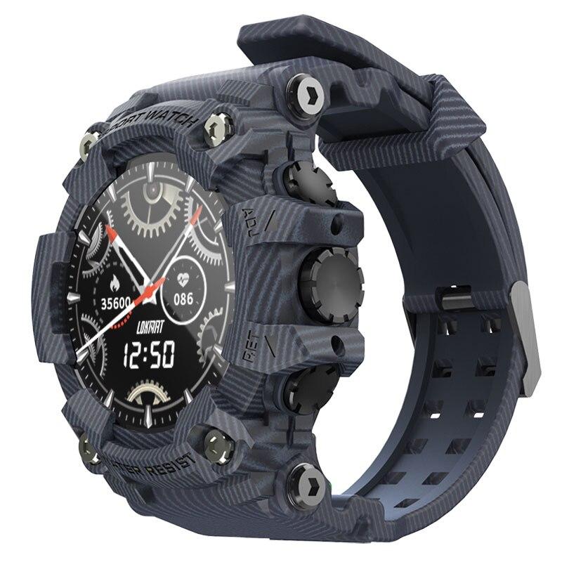 موكا الرياضة ساعة ذكية في الهواء الطلق وعرة smartwatch جهاز تعقب للياقة البدنية كامل شاشة تعمل باللمس مراقب معدل ضربات القلب دعوة تذكير للهاتف