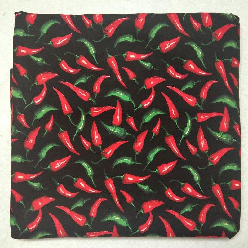 50x105 см Горячая Пряная хлопковая ткань с принтом Красного перца, фруктовая ткань, Лоскутная Ткань для платья, вечерние украшения для дома
