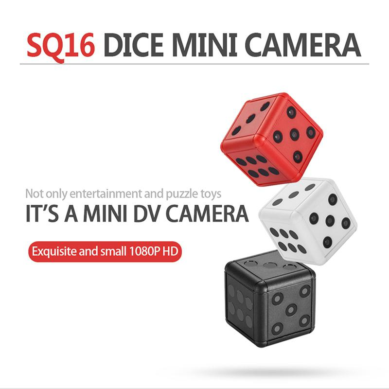 SQ16 Mini Camera 1080P HD Video Recorder Infrared Night Detection Micro Camera Keychain 360 Degree Rotation Digital Camera
