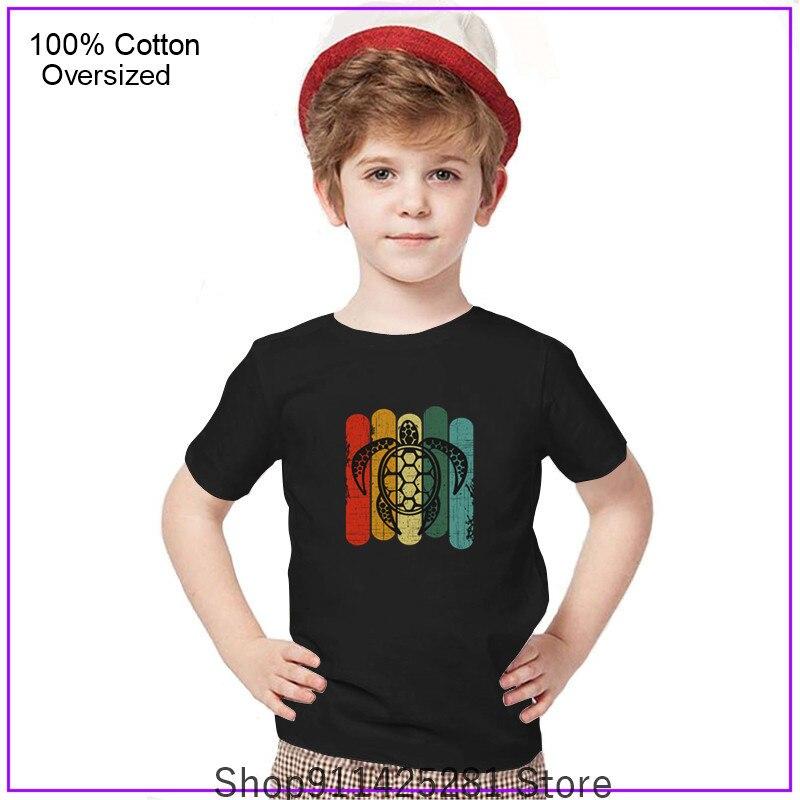 Camisetas Vintage desgastadas para niños y niñas, ropa clásica con tortuga marina,...
