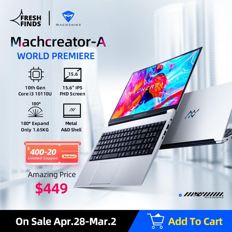 [World Premie] Machcreator-A Laptop Metal Ultrabook intel core i3 10110U 8G 256G SSD 15.6'' FHD IPS