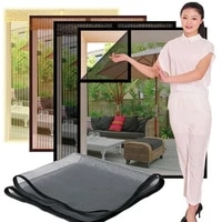 inset window screen mesh air tulle adjustable summer invisible anti mosquito net fiberglass removable washable customize screen