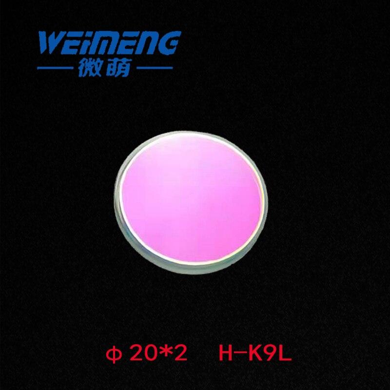 Weimeng 5 pçs 20*2mm H-K9L feixe de laser combinador 45 graus 650 nmhr 532 nmht plano & circular corte a laser máquina gravura