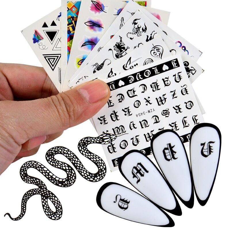 Pegatinas con diseños para uñas, calcomanías para decoración de uñas con diseño...