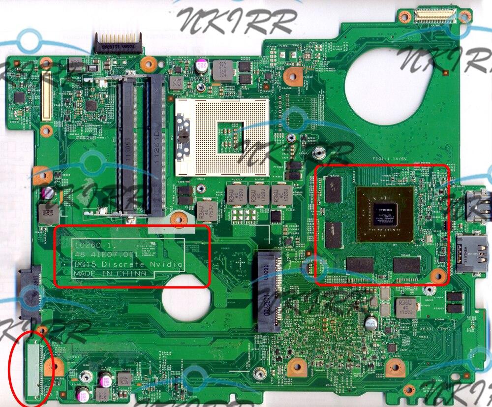 10260-1 DQ15 discreto Nvidia 10260-2 WTPNR J2WW8 MWXPK 0J2WW GT525M 1G placa base para Inspiron 15R N5110 apoyo core I5 I7