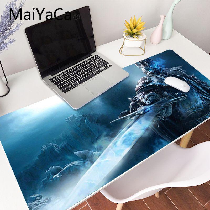 Игровой коврик для мыши World of Warcraft, большой Противоскользящий коврик для мыши, размер XL, l, Настольный коврик для мыши для ноутбука, резиновый ...