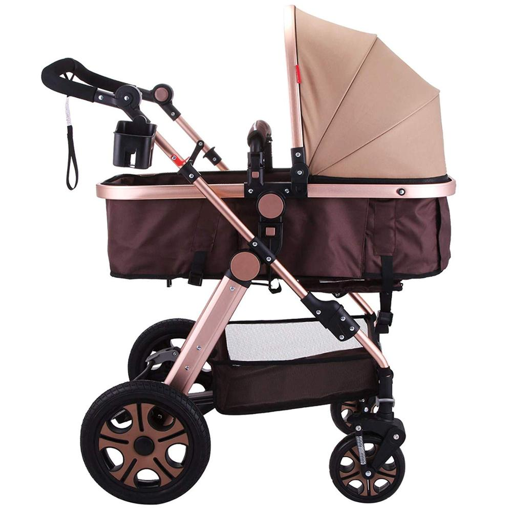 K-STAR 2-in-1 Baby Stroller Portable Baby Stroller Foldable Baby Stroller Adjustable High View Pram Travel System baby stroller high view vip mode baby stroller with safety seat shockproof portable baby cart