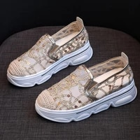summer casual shoes women fashion flat platform shoes women low help loafers spring lady female footwear breathable light shoes