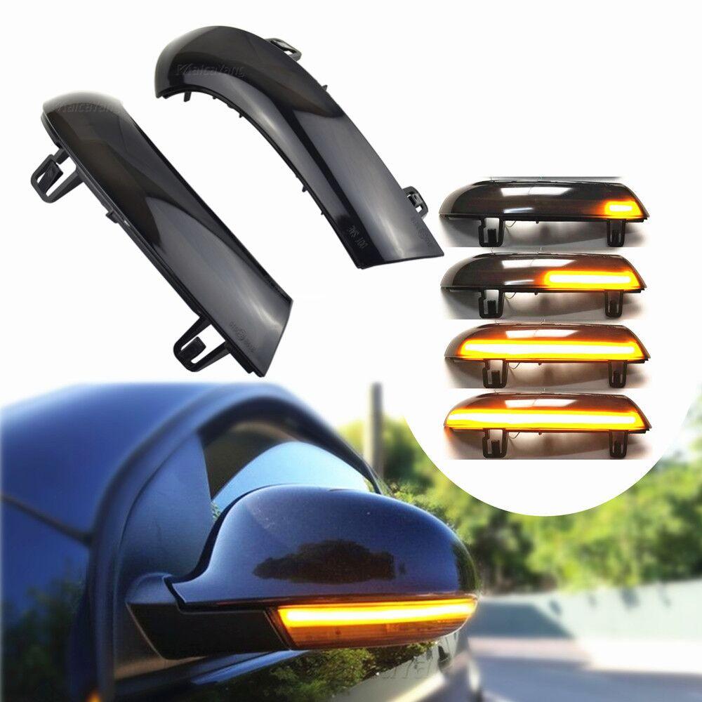 Luz LED intermitente dinámica para Volkswagen GOLF 5 GTI, variante Jetta MK5 Passat B6 Plus, luz de espejo EOS Sharan