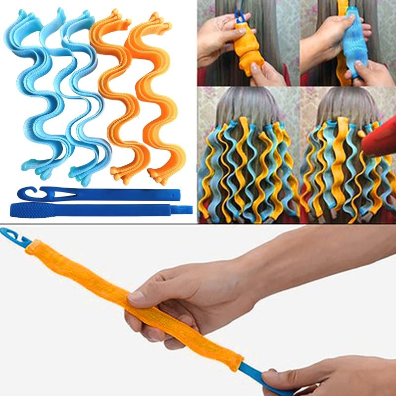 30cm DIY Magic Hair Curler Portable 12PCS Hairstyle Roller Sticks Durable Beauty Makeup Curling Roll
