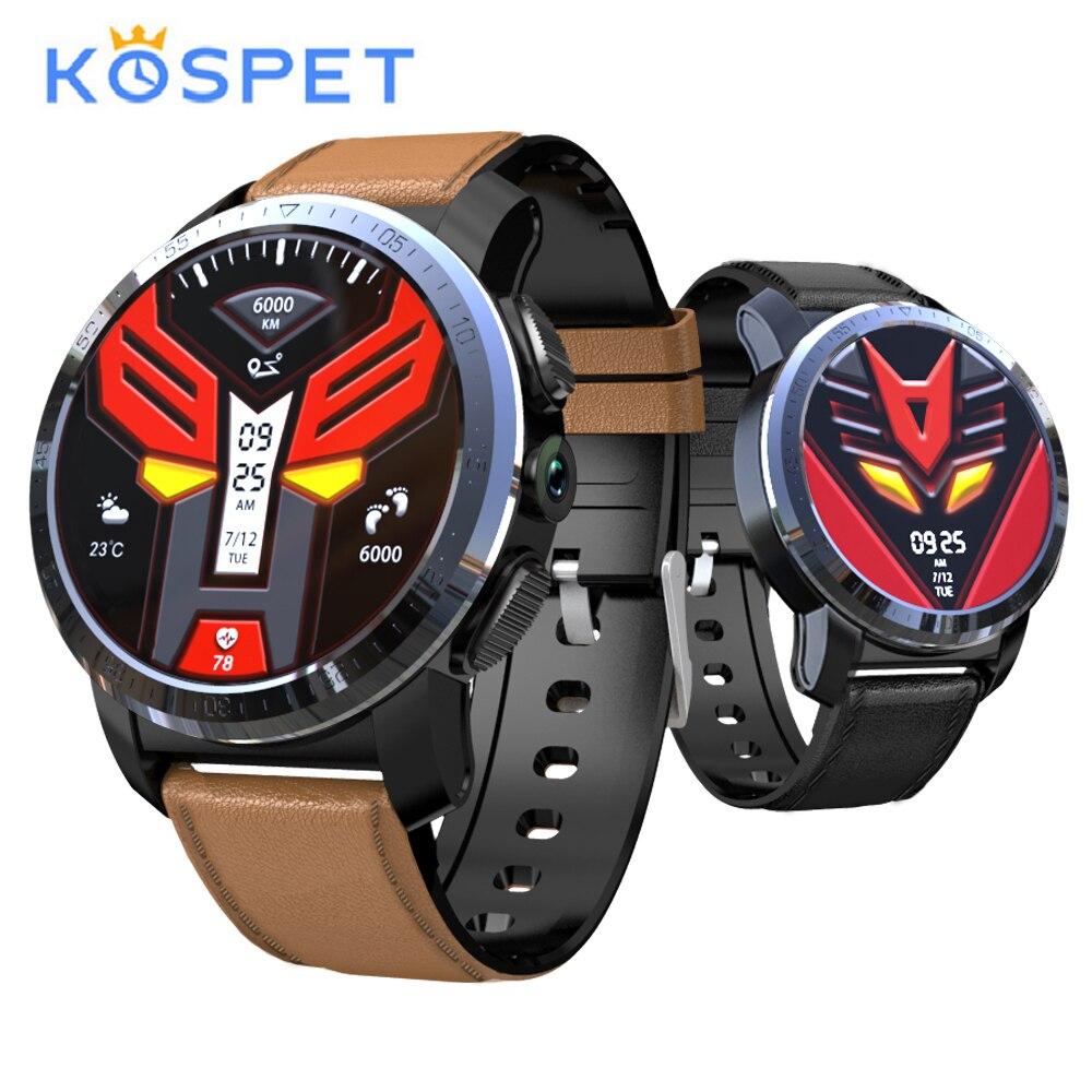 """KOSPET Optimus Pro 4G inteligente del teléfono del reloj 3GB 32GB Monitor GPS de frecuencia cardiaca 800mAh batería de la batería 1,39 """"8.0MP Cámara WiFi Smartwatch hombres"""