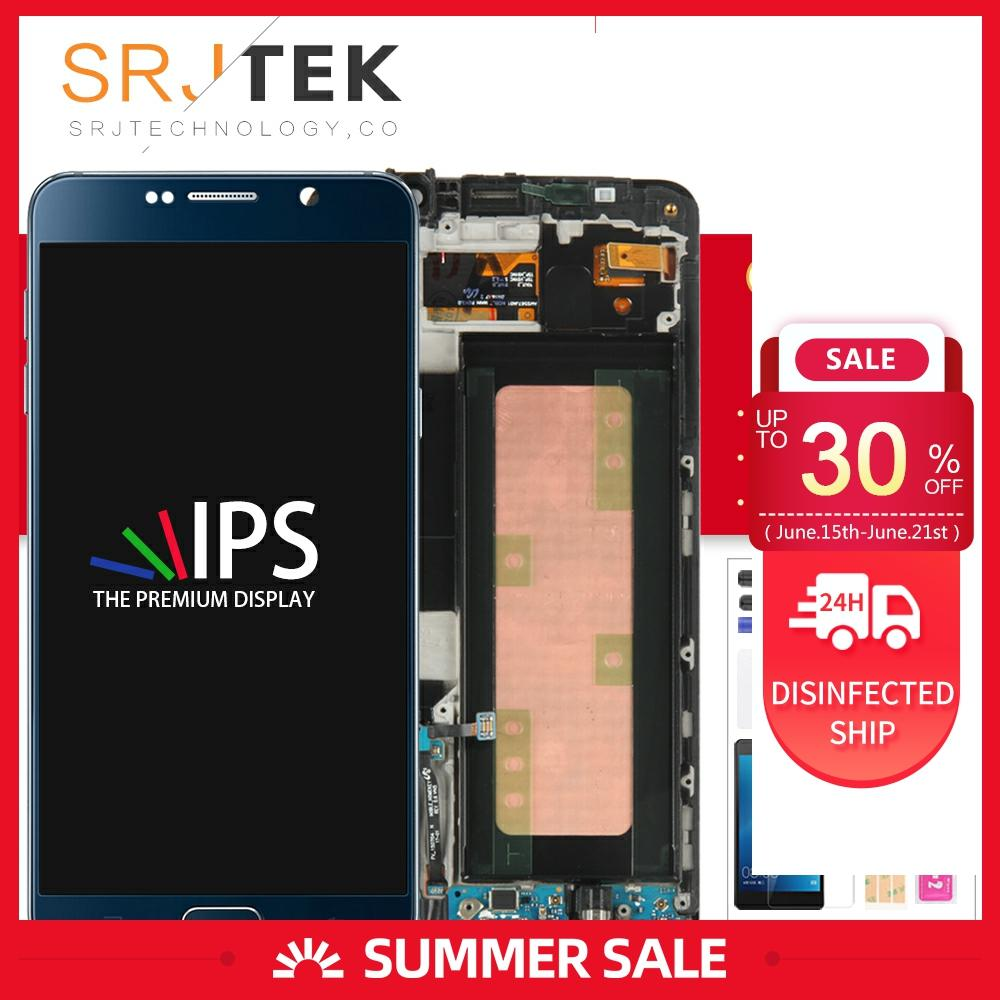 Samsung Galaxy not 7 için LCD not FE 7 ekran dokunmatik ekran Digitizer meclisi çerçeve Galaxy not 7 için N930F ekran N930 N930G