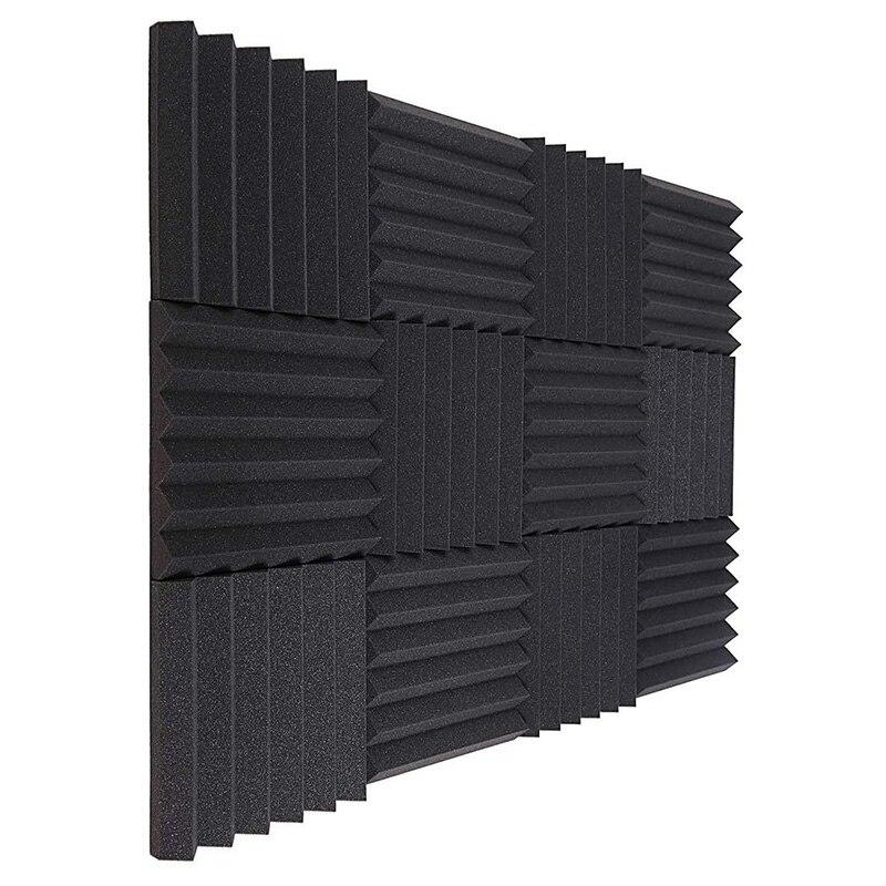 لوح فوم عازل للصوت ، ألواح حائط صوتية ، بلاط إسفنج استوديو ، 5x30 سنتيمتر ، 12 قطعة