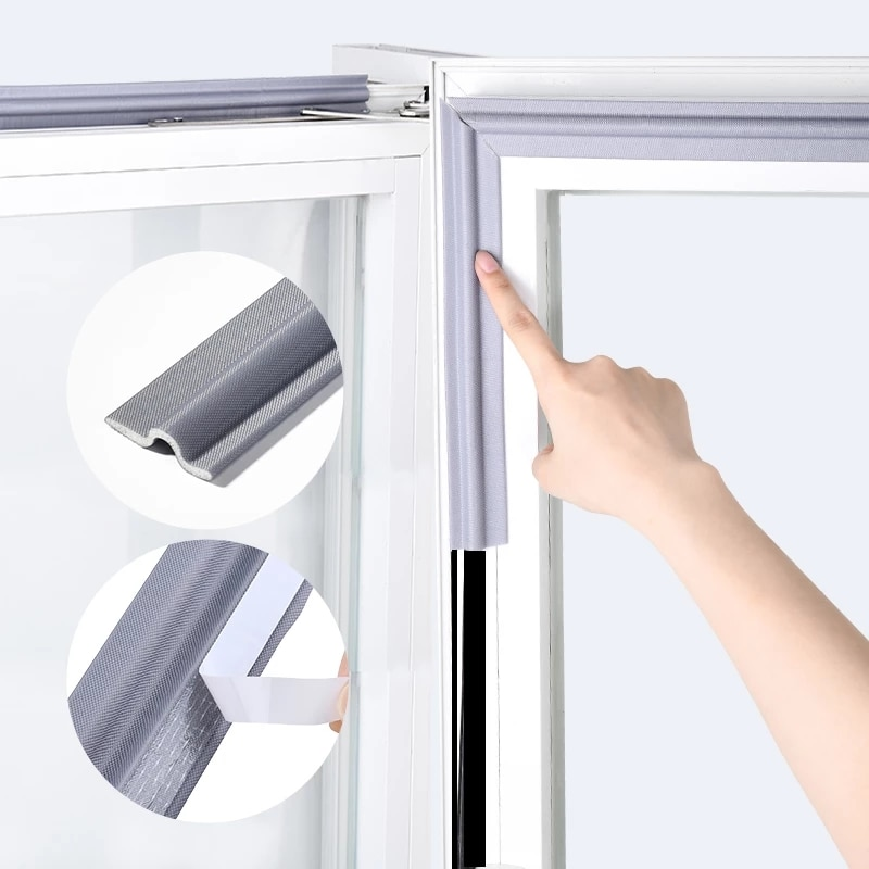 4M Self Adhesive Window Door Seal Strip mousse acoustic soundproof foam seal tape Weather Stripping