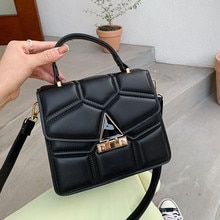 Top Brand Handbag Women Luxury Hand Bags Classic Flap Square Women Shoulder Bag Pu Leather Crossbody
