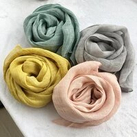 unisex style spring summer autumn winter scarf cotton and linen solid color long womens scarves shawl fashion men scarf