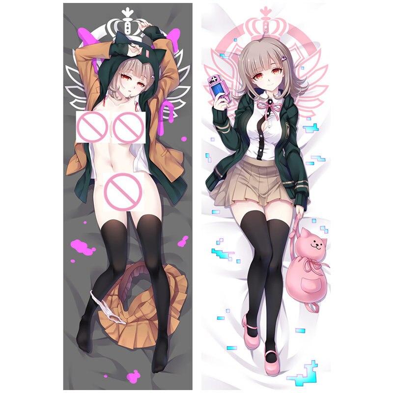 Funda de almohada DO03B de Anime PSP juego Danganronpa Nanami ChiaKi Dakimakura, funda de almohada para el hogar Naegi Makoto