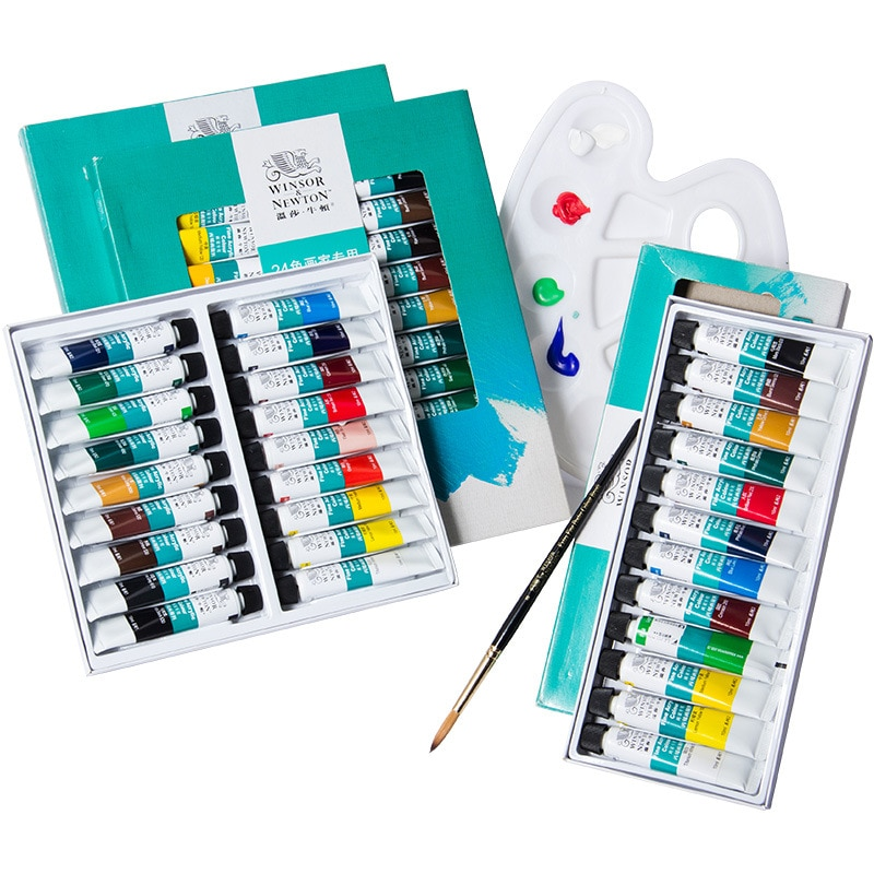 Winsor Newton Acrylic Painting Set 12/18/24 Colors Professional 10ML/tube Pigments For Artist Drawing Tools Acrylic Art Painting