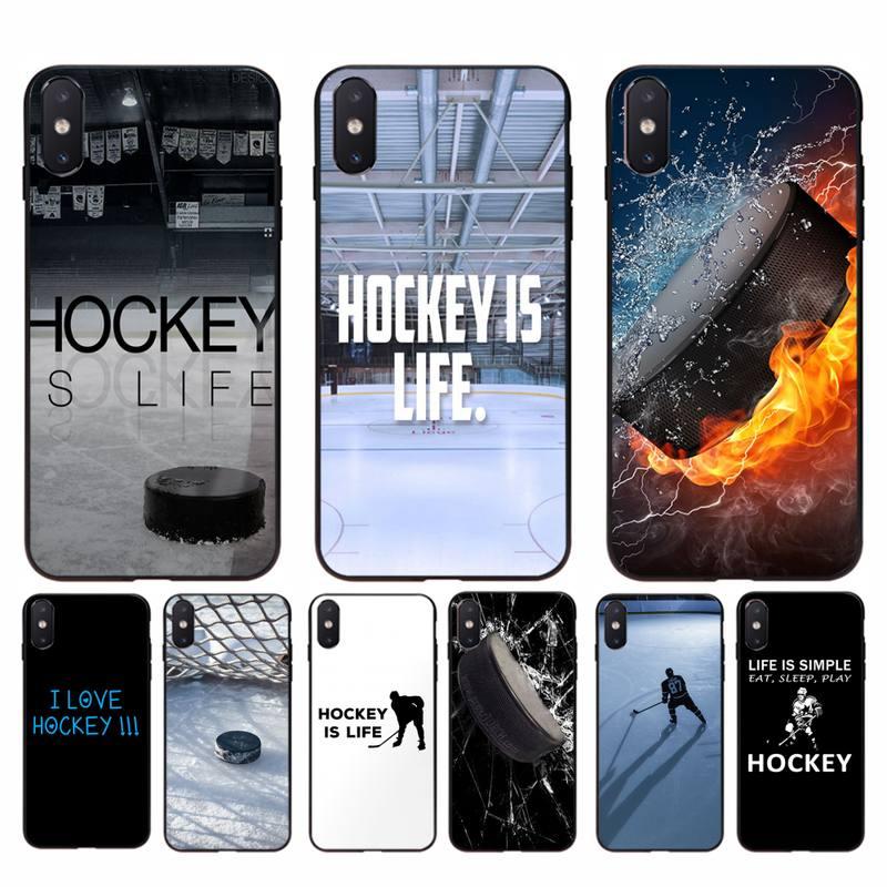 Motirunner hóquei no gelo esporte tpu preto caso do telefone capa casco para iphone 11 pro max x xs max 6s 7 8 plus 5 5S 5se xr se2020
