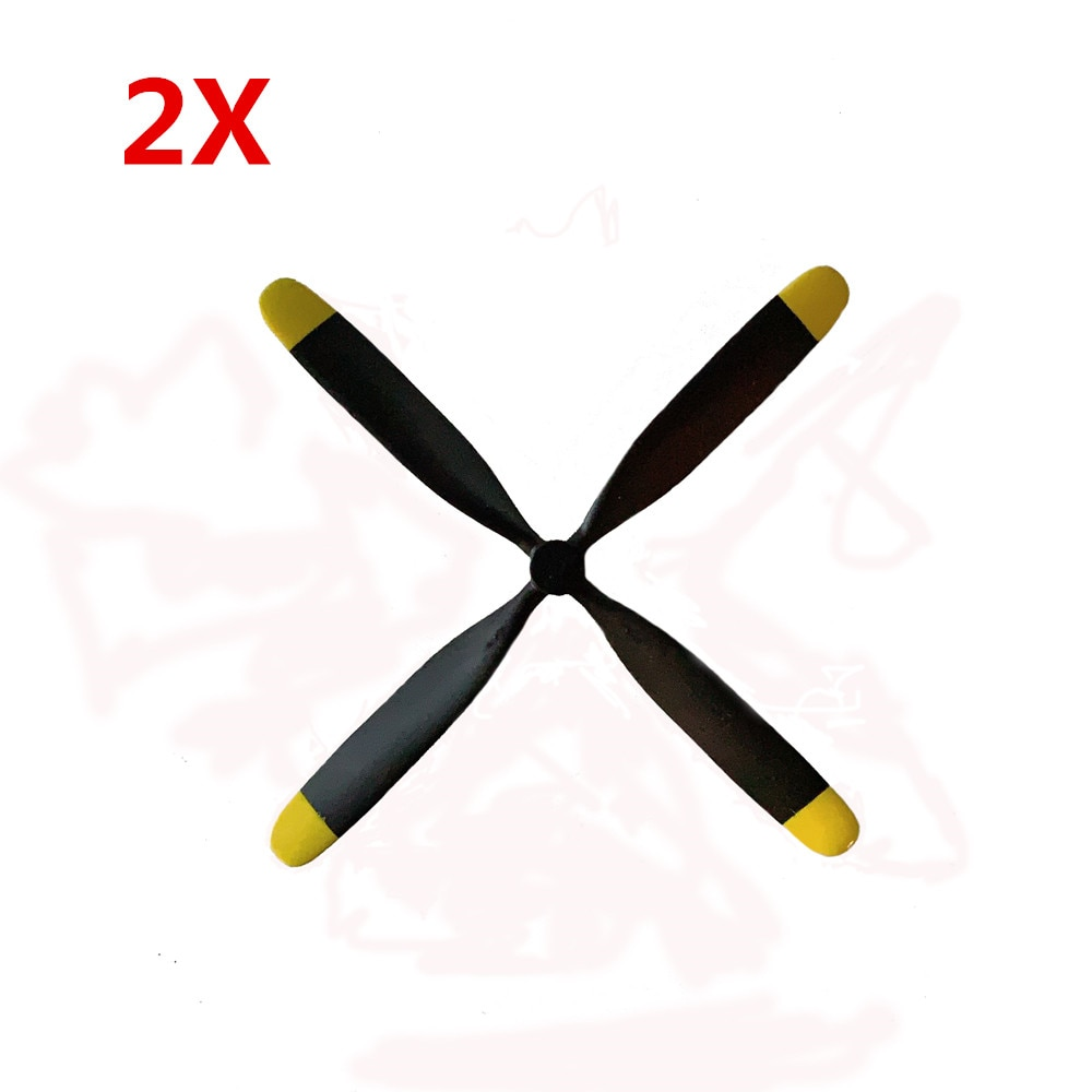 2PCS Volantex RC 768-1 Mustang P-51D Warbird RC Aiprlane Spare Part 4-Blade 3.0mm Propeller For Rc Aircraft Outdoor Toys Parts