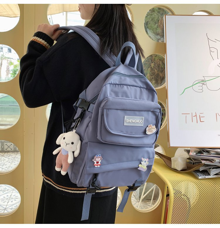 Korean Casual Backpack Women Simple School Bags For Teenage Girls Travel Backpack Multipockets Backpacks Mochila Feminina Bags