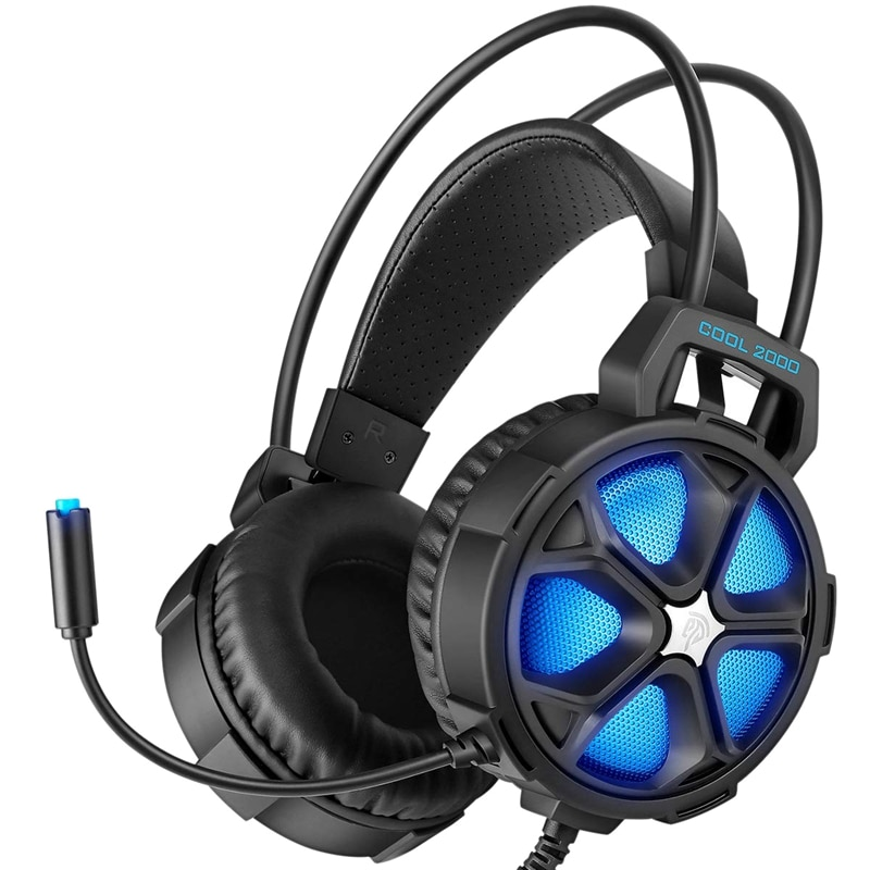 EasySMX cómodos auriculares de juego estéreo Led de 3,5mm para PS4 Xbox One con auriculares con micrófono de iluminación LED para PC