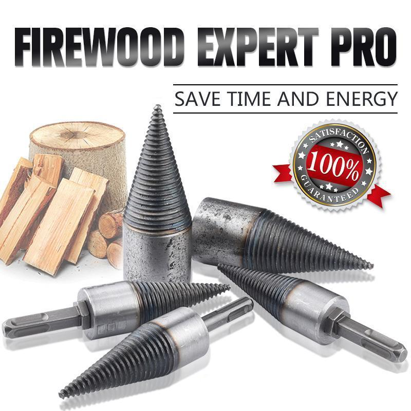 Hex Shank Firewood Splitter Machine Drill Wood Cone Reamer Punch Driver Step Drill Bit Split Drilling Tools woodworking tools