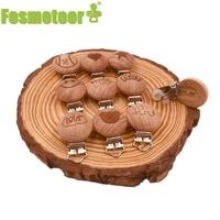 fosmeteor metal wooden baby pacifier clips holders printing infant soother clasps holders accessories diy tool baby teether