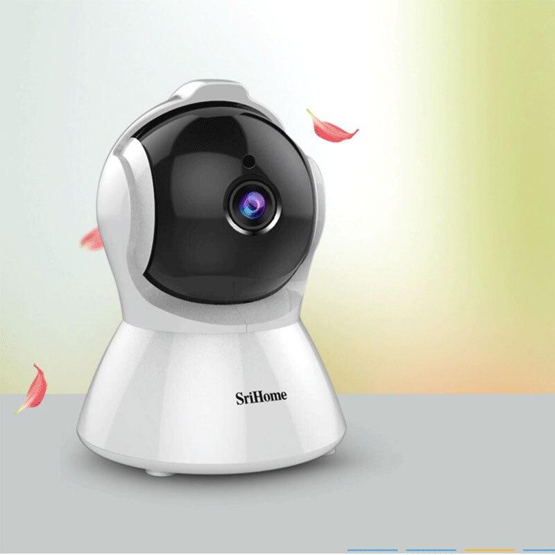 Sricam SH025-كاميرا IP 2.0 ميجابكسل 1080 بكسل ، جهاز مراقبة ذكي ، مع AI ، تتبع تلقائي ، H.265 ، Wifi ، للمنزل الذكي ، مع صوت ثنائي الاتجاه ، 360 درجة