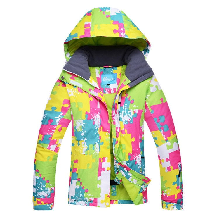 WOMEN'S Ski Suit Wind-Resistant Waterproof Warm Breathable Winter Cotton-padded Clothes Snowboard Anorak