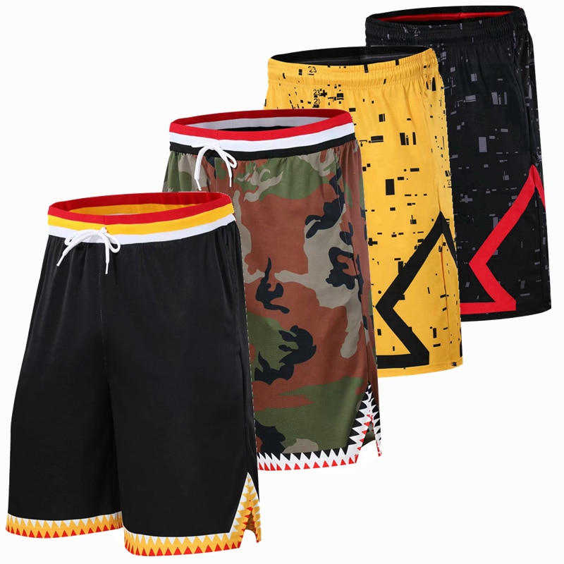 Pantalones cortos de baloncesto de verano para hombre, ropa deportiva para correr, pantalones cortos de entrenamiento transpirables, pantalones cortos holgados de talla grande con bolsillos y cremallera M-6XL
