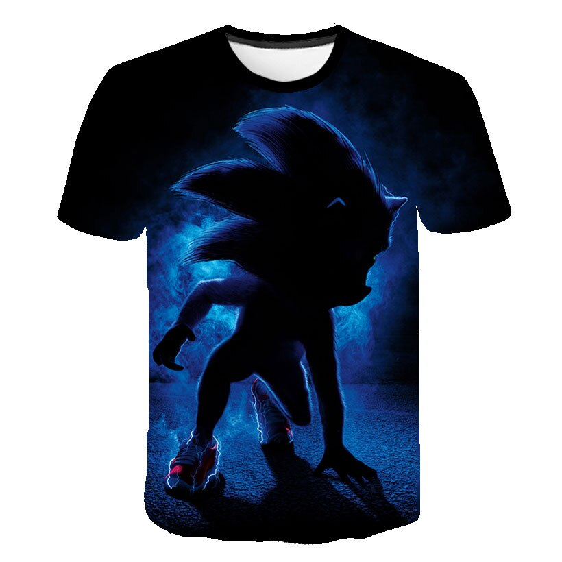 2021 Summer T-Shirt Fashion Sonic Tshirt Baby Boys Clothing Kids t shirt Girls Tops Tees Children Clothes Cartoon Girl Shirts